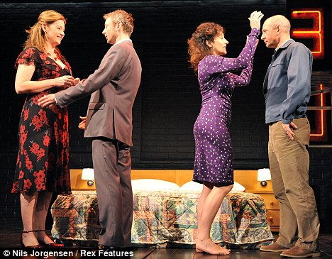 Ensemble piece: (L-R) Kerry Fox, John Simm, Lucy Cohu and Ian Hart
