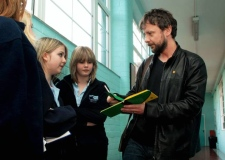 Actor John Simm, signing autographs in 2008 while filming at Cromer high school.