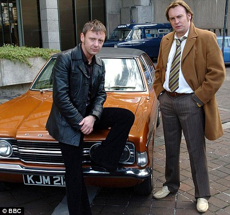 Life on Mars: Sim and Glenister first appeared in the BBC series about the police in the 1970s
