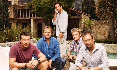 Mad Dogs, out in the midday sun: (l-r) Max Beesley, Philip Glenister, Ben Chaplin, Marc Warren and John Simm