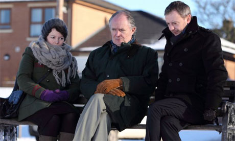 Cold comfort ... (l to r) Olivia Colman, Jim Broadbent and John Simm in Exile. Photograph: BBC/Red Productions/Matt Squire
