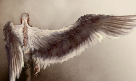 Skellig: artist's impression of Tim Roth as the part-owl, part-angel character. Photograph: Sky