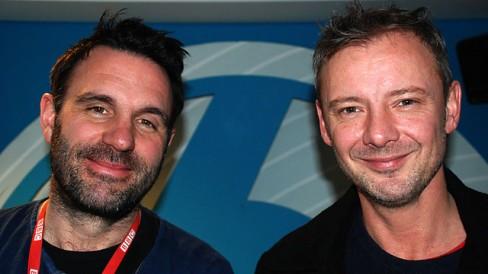 Shaun Keaveny with John Simm
