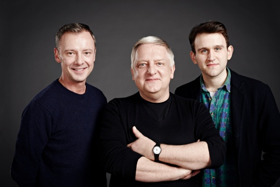 John Simm, Simon Russell Beale, Harry Melling inThe Hothouse at Trafalgar-Studios