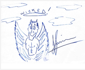 John Simm Original Art in support of The Kaos Signing Choir