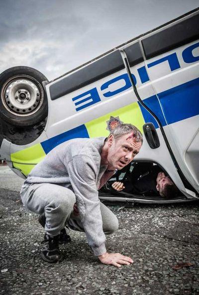 John Simm as Detective Sergeant Marcus Farrow in Prey [PH]