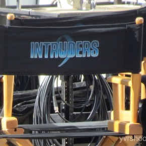 INTRUDERS with John Simm films Near Waterfront Station in Vancouver