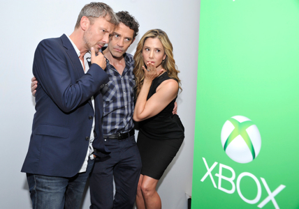 John Simm James Frain Mira Sorvino Xbox VIP Lounge 300