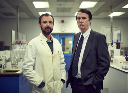 John Simm as Dr Alec Jeffreys and David Threfall as DCS David Baker star in Code of a Killer