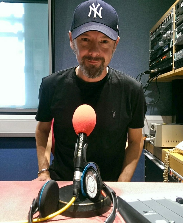 Actor John Simm chatting to Mark and Stuart on BBC Radio 6