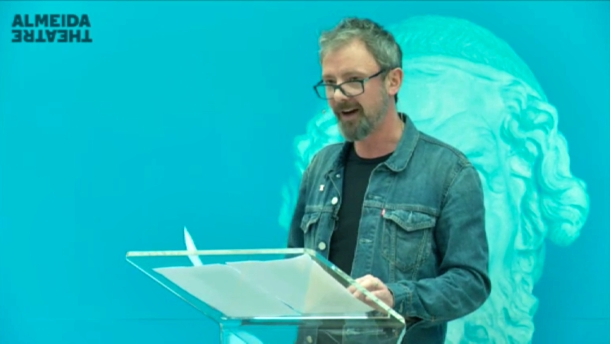 John Simm took to the stage at the British Museum to read the Iliad