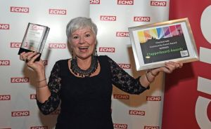Maureen Sinclair at the ECHO's Pride of Merseyside Awards 2014