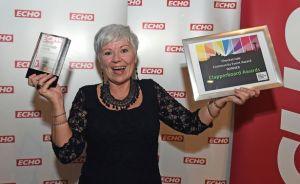 Maureen Sinclair at the ECHO's Pride of Merseyside Awards 2014