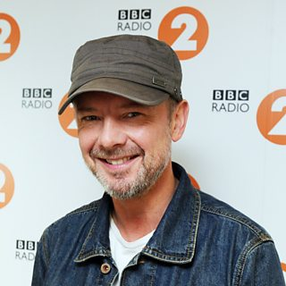 John Simm at BBC Radio 2 studio