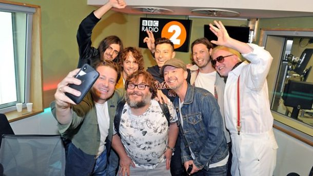 Pictured: Jamie Oliver, Jack Black, John Simm, Razorlight and Chris Evans