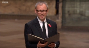 John Simm reads at Westminster Abbey to mark the Centenary of the Armistice