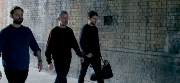 "Scene from The Leisure Society's ""God Has Taken A Vacation"" music video staring Naz Osmanoglu, John Simm and George Lewis."