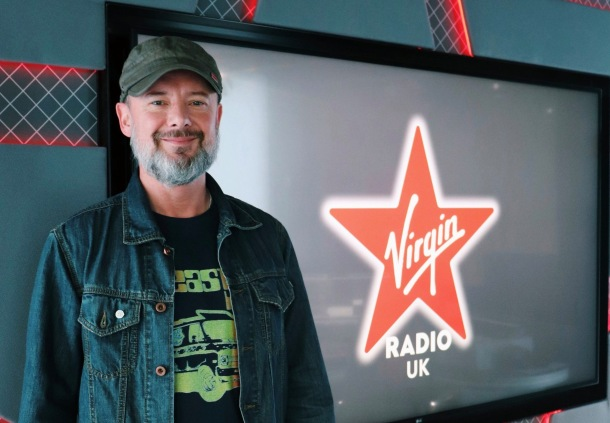 John Simm at Virgin Radio Studio. Photo: Virgin Radio Breakfast Show