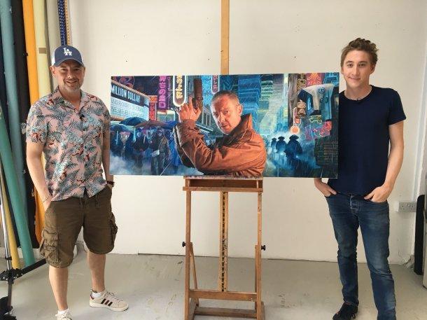 John Simm came to Joe Simpson's studio to film the unveiling.