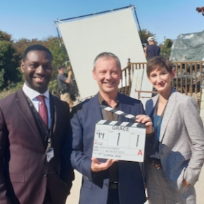Kiaran Murray-Smith Tweets: First film in Grace series starring John Simm finished