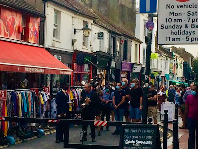 A camera crew were filming new drama series Grace starring John Simm today in Sydney Street, Brighton