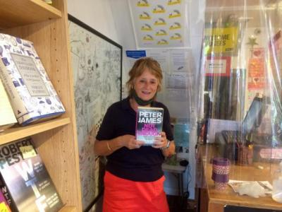 Lesley Burgess, who volunteers at Books for Amnesty